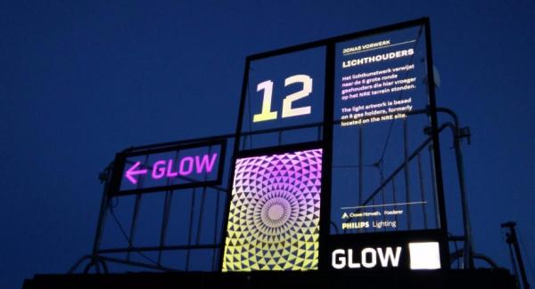 Interactive, luminous signing at GLOW Eindhoven